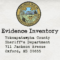 Inventory of evidence collected at the Hammond homicide scene
