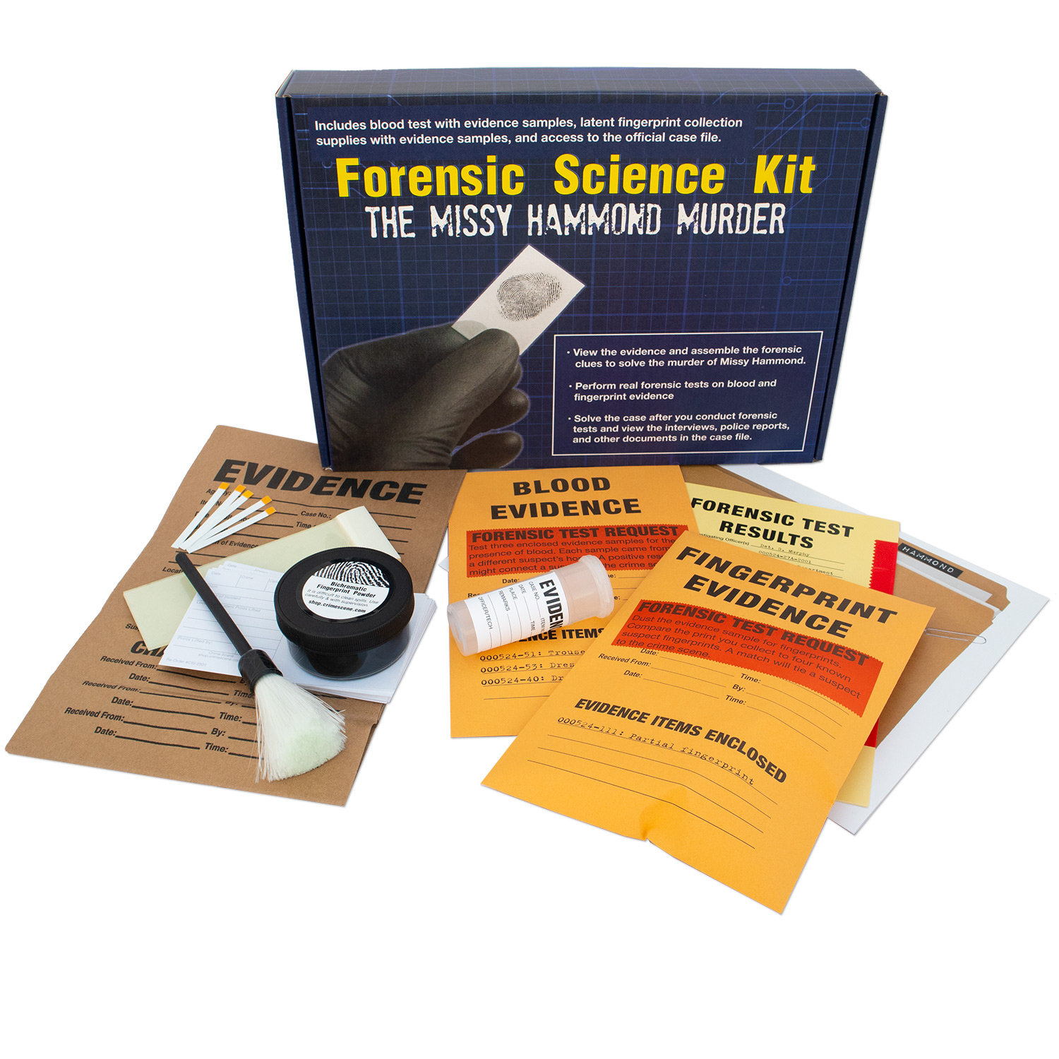 Forensic Science Kit The Missy Hammond Murder Crime Scene Forensic Supply Store