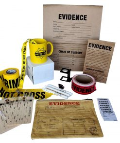 Contents of the Crime Scene Gift Bundle