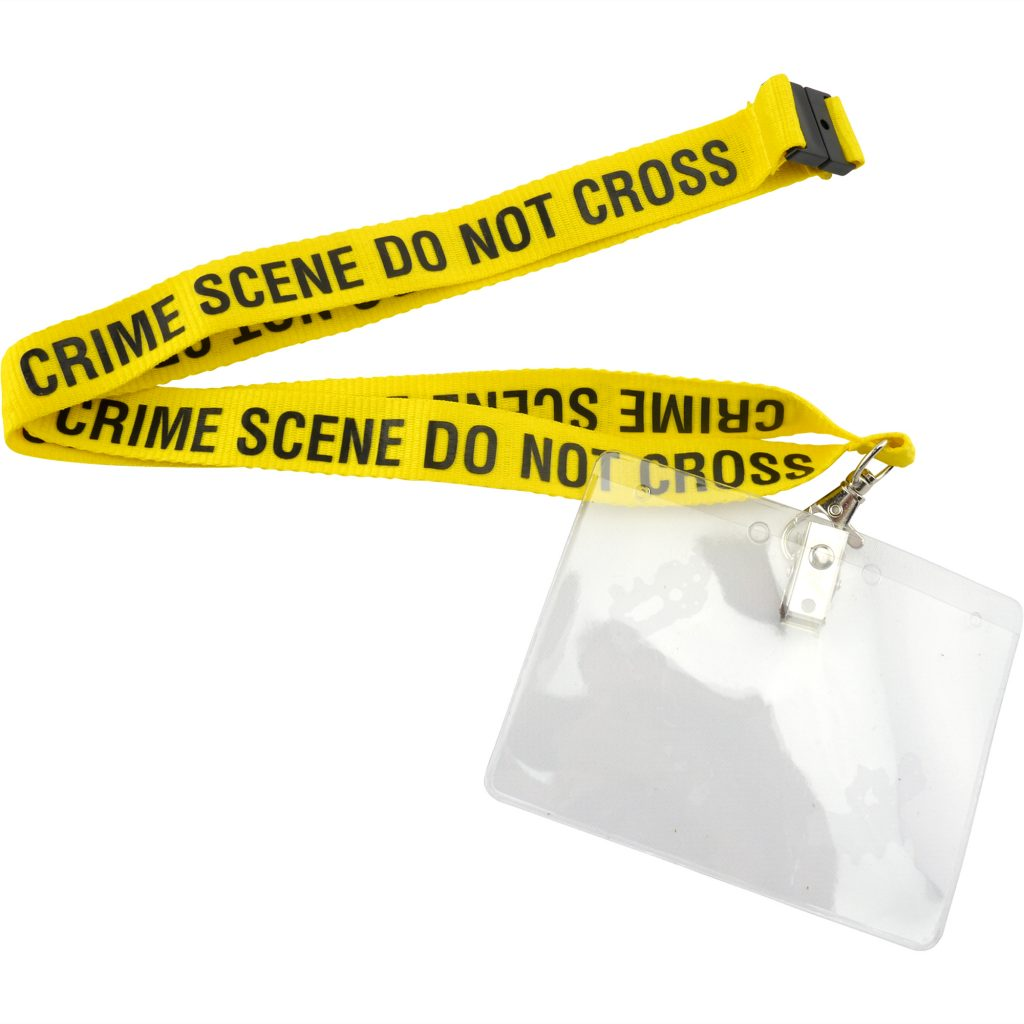 Crime Scene Do Not Cross Lanyard