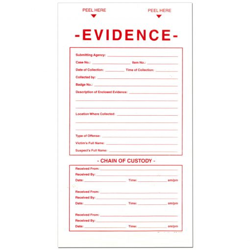Evidence Chain Of Custody Labels Crime Scene Forensic Supply Store